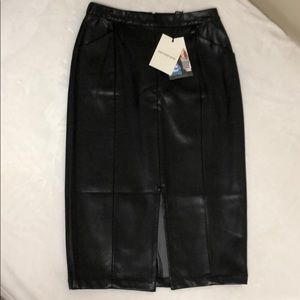 Who What Wear Skirts - Faux Leather Skirt by Who What Wear